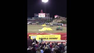 Anaheim Monster Jam 2/9/13 Semi Finals: Grave Digger vs. Obsession