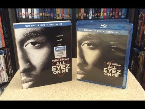 All Eyez On Me BLU RAY UNBOXING + Review - 2 Pac