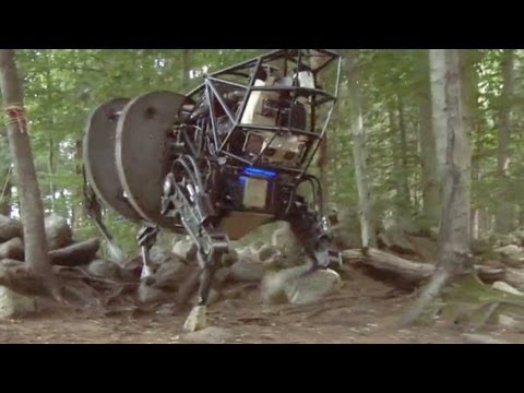 Video Military robot navigates through woods download in MP3, 3GP, MP4, WEBM, AVI, FLV January 2017