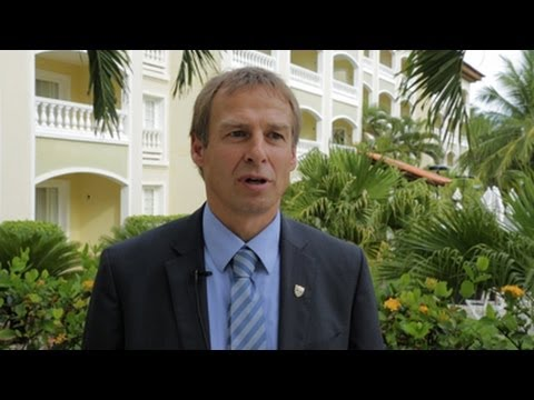 Us - Jurgen Klinsmann gives his thoughts on being in Group G at the 2014 FIFA World Cup with Germany, Portugal and Ghana. More info: http://www.ussoccer.com Subsc...
