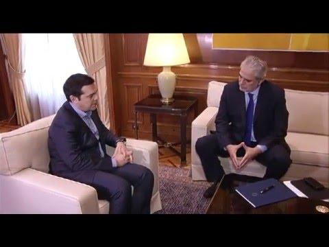 Συνάντηση Πρωθυπουργού με Ευρωπαίο Επίτροπο για την Ανθρωπ. Βοήθ.&Διαχείρ. Κρίσεων,Χρήστο Στυλιανίδη