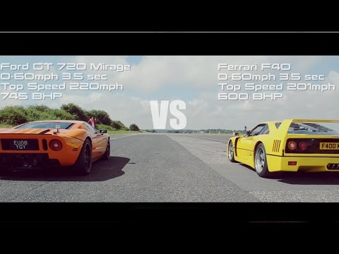winner - We staged a series of drag races where the winner stays on, starting with the Ford GT 720 Mirage v F40 right up to the McLaren P1! Who will take the crown? Let us know your thoughts below...