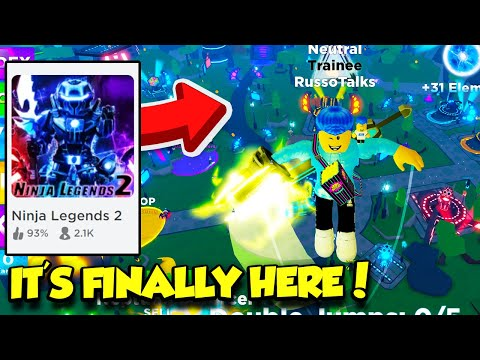 THE OFFICIAL NINJA LEGENDS 2 IS FINALLY OUT AND IT'S AMAZING!! (Roblox)