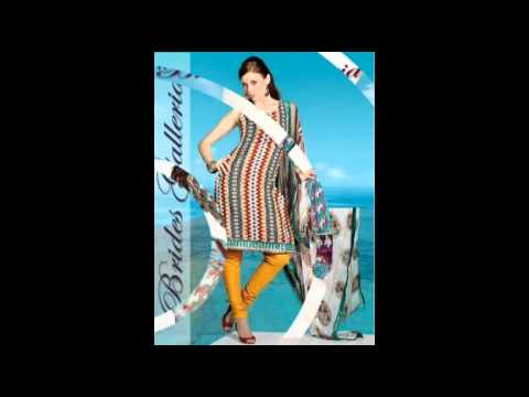 churidar - Buy Latest Trendy Cotton Printed Churidar & Shalwar Kameez from http://bridesgalleria.com One of the primary purposes of Cotton Salwar Kameez or Churidar Sui...