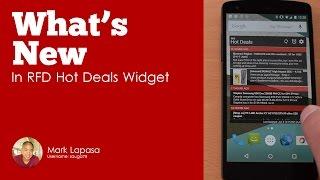 RFD Hot Deals Widget YouTube video
