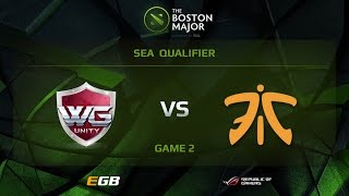 WG.Unity vs Fnatic, Game 2, Boston Major SEA Qualifiers