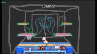 Two Yoshi Down-B combos on G&W (Wario Ware)