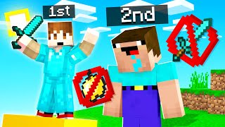 Minecraft But Finish 2nd = You Lose EVERYTHING
