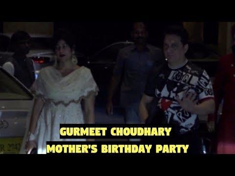 Sajid Nadiadwala & Wardha Khan Attends Gurmeet Choudhary Mother's Birthday Party