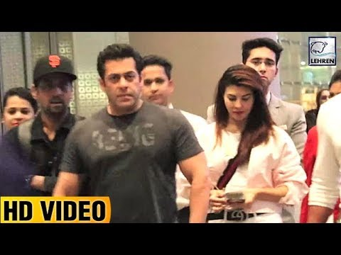 Salman And Jacqueline Return From Bangkok After Sh