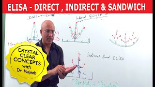 Elisa Test - Direct, Indirect & Sandwich. Watch 700+ videos at https://www.drnajeeblectures.com