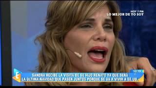 El llanto de Sandra Arana que causó la risa de todos en el set