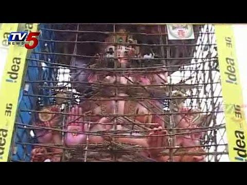 Arrangement for Khairatabad Ganesh : TV5 News