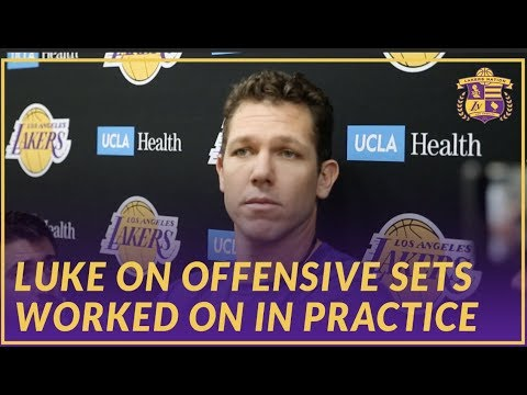 Video: Lakers Interview: Luke Walton Talks About the Offensive Focus In Practice Today