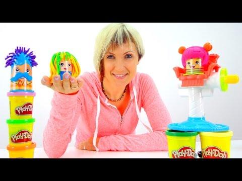 Видео для детей Весёлая Школа с Play Doh. Прически. Мультфильм Грузовичок Лева и эвакуатор