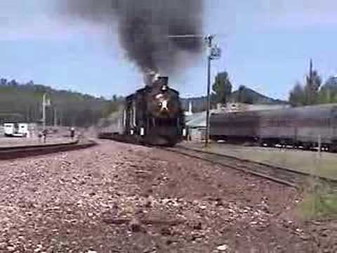 Grand Canyon Railroad double header steam train