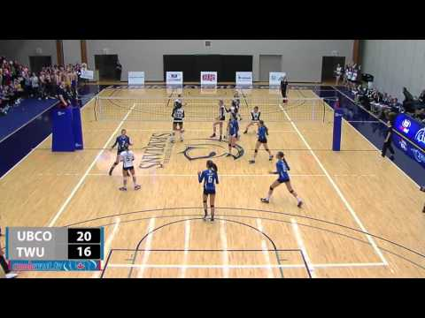 2016-02-05 TWU Women's Volleyball Highlights vs UBC Okanagan