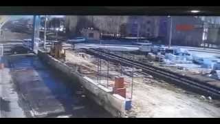 diesel train vs renault 12 sw  awesome crash from turkey  nigde 51000