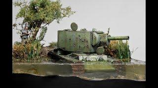 Video KV-2 Russian Tank Abandoned in Water 1942 - Diorama 1/72 MP3, 3GP, MP4, WEBM, AVI, FLV Agustus 2019