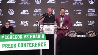 Video Conor McGregor vs. Khabib Nurmagomedov || Full Press Conference MP3, 3GP, MP4, WEBM, AVI, FLV Juni 2019
