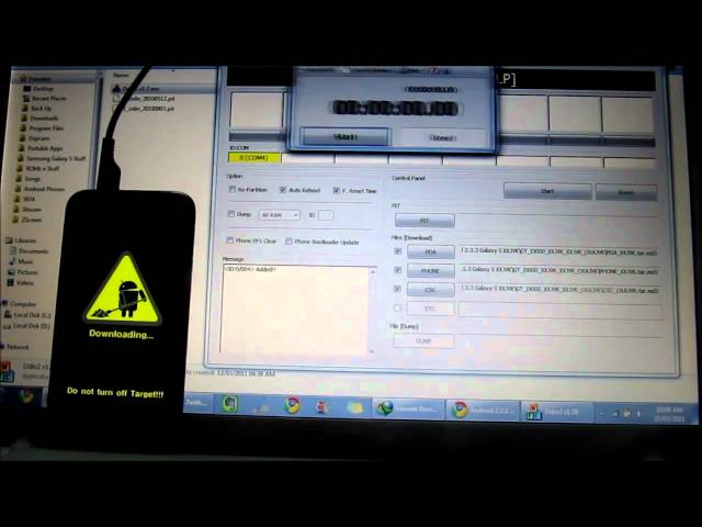 Install Instructions for Leaked XXJVK Android 2.3.3 ROM for Galaxy S