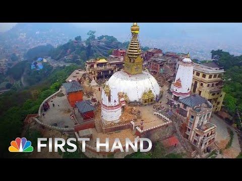 Щетите след земетресението в Непал, заснети от дрон