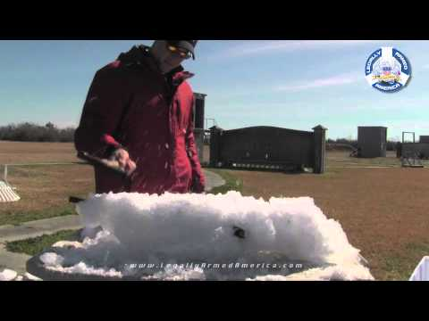 Busting an AR-15 out of a block of ice!
