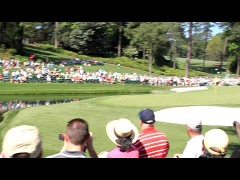 Martin Kaymer Water Skipping Hole In One At Masters HD