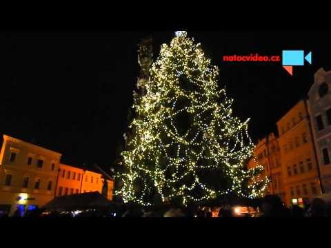 Rozsvícení vánočního stromečku v Jindřichově Hradci