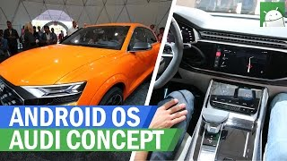 Android OS running on the Audi Q8 Sport concept