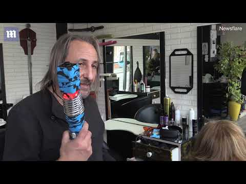 'Star Wars hairdresser' uses LASER to style client's hair