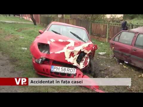 Accidentat în fața casei