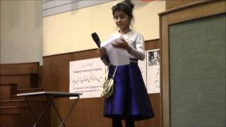 Afghanistan And Central Asian Association Nowruz 1392 - Poetry By Ferdowsi School