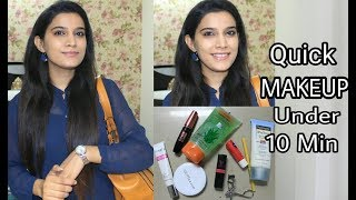 How To : Office Makeup Under 10 Minutes | Quick everyday Makeup Look| Affordable Products