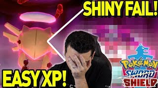 EASY XP and LV100 Tip! SHINY GMAX FAIL and More! Max Raid Monday in Pokemon Sword and Shield! by aDrive