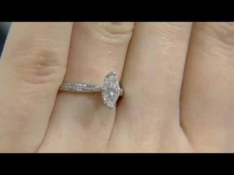 0.70ct Marquise Diamond Engagement Ring SD018