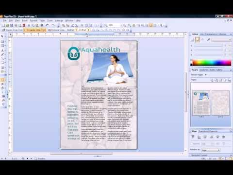 Serif PagePlus X5 Tutorial - The Crop Tool