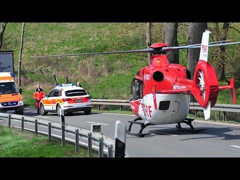Unfall: Hubschrauber landet auf B 251