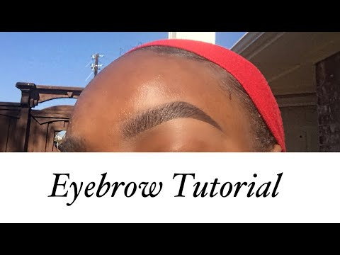 Eyebrow Tutorial 2018