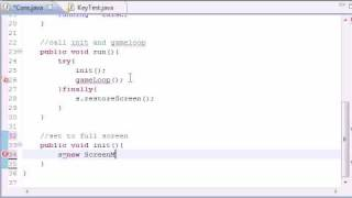 27. Creating a Core Class - Java Game Tutorials