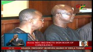 NDC Top Brass Sign Book Of Condolence
