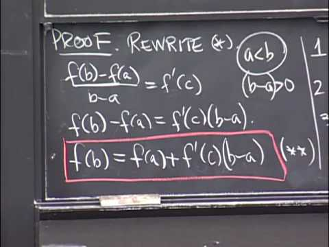 Lec 14 | MIT 18.01 Single Variable Calculus, Fall 2007