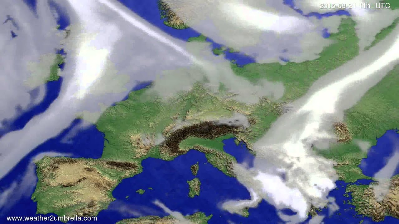 Cloud forecast Europe 2015-09-18