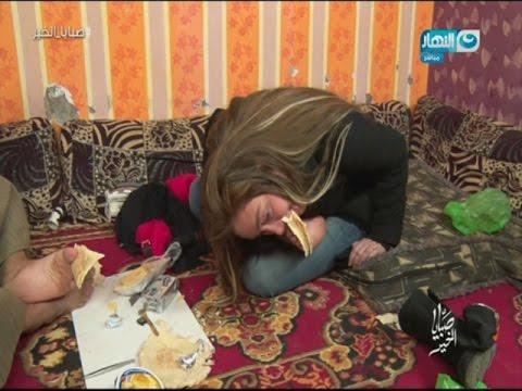 شاهد- ريهام سعيد تعايش تجربة فقد الذراعين وتأكل بقدميها
