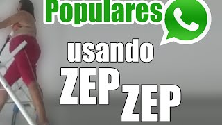 usando o Zep Zep - Vídeo Engraçado WhatsApp