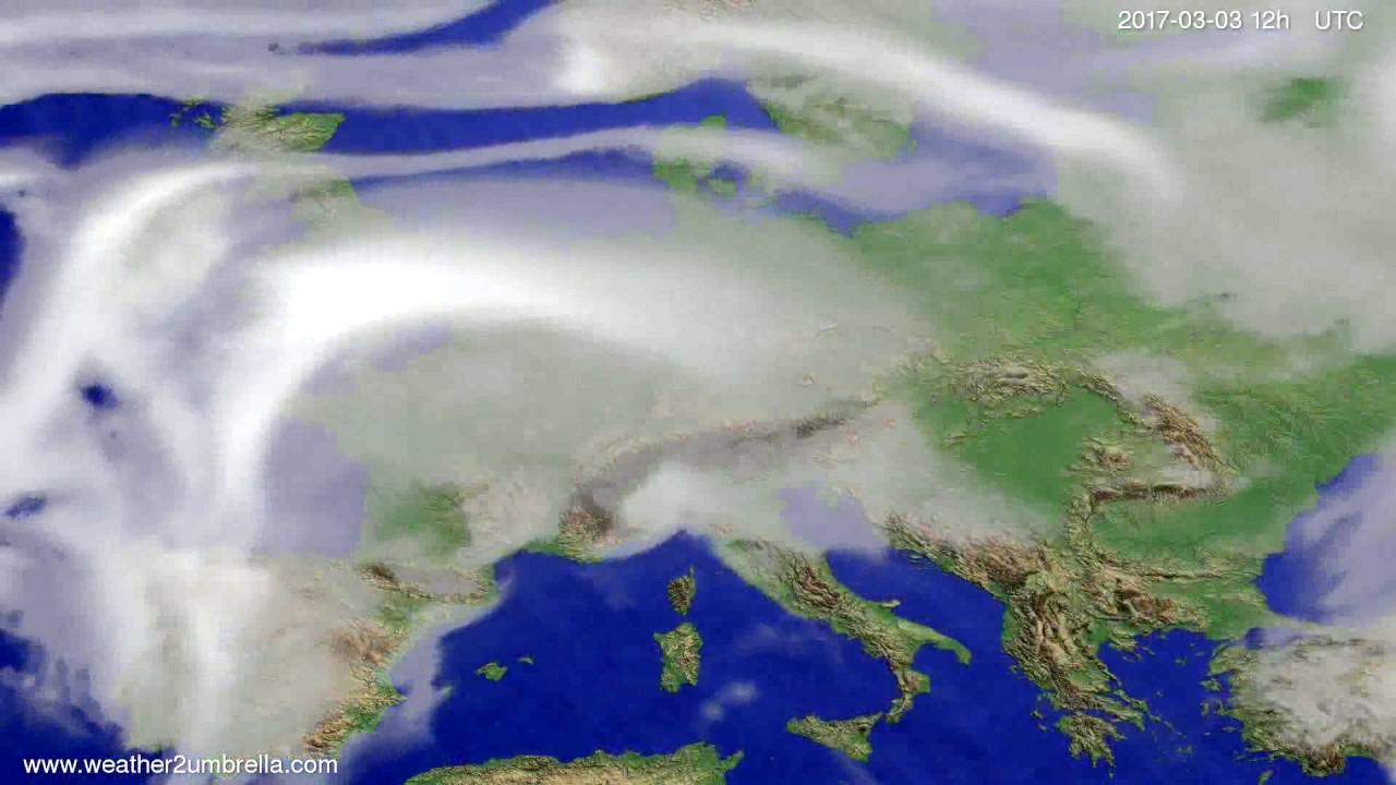 Cloud forecast Europe 2017-03-01
