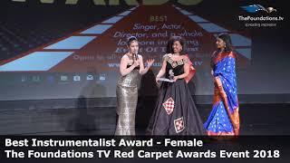 Tania Stavreva wins The Foundations TV Best Instrumentalist Award Female