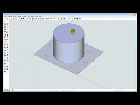 Sketchup-Training 001 – CAD, Mutterngehäuse zeichnen