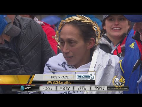 Exhausted Boston Marathon Champion Desi Linden 'Left It All Out There'