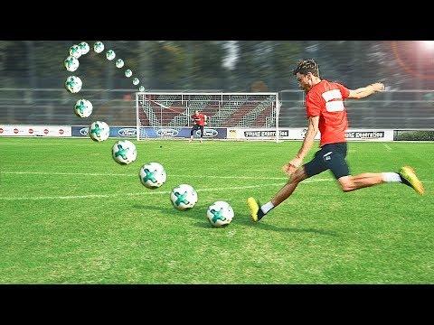 YouTuber vs Profis - Bundesliga Freistoß Challenge vs Profi-Torwart - Thời lượng: 4 phút, 52 giây.
